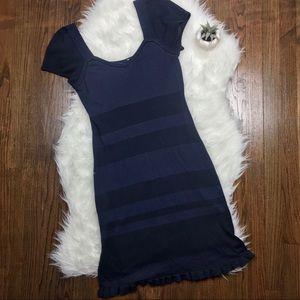 IISLI Knit Navy Short Sleeve Dress